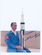 NASA Litho orig. handsigned by Walter Cunningham