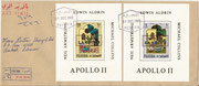 Fujeira, complete set of 12 values overprinted in gold on epreuve de luxe sheetlets, impeforate, stories from 1001 nights with overprint Apollo 11, on FDC, 25 items issued