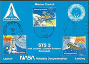 STS-3 NASA Philatelic documentation card