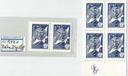 Yuri Gagarin Kasachstan 1 and 2 as one pair (2 stamps)  and  2 pairs (4 stamps) issued for the Sojus TM 14 flight