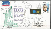 Launch cover STS-55 (launch of the D2 Mission) orig.signed by complete crew