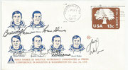 Cover  orig.signed candidates Brewer Shaw STS 23), oren Shriver (STS STS 15), Robert Stewart (STS 10 and STS 21), Norman Thagard (STS 7,STS 17,STS 29 and STS 71) , Donald Williams ( STS 16 and STS 34) and  David Walker (STS 14,STS 16 and STS 29)