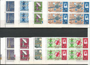 Qatar 195A/202A, perforate 8 stamps,overprinted New Currency, all 8 values overprinted in black in pairs, mnh
