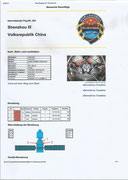 Documentation sheet from the flight Shenzhou 9