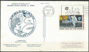 Launch cover from the moon, KSC cachet ca. 10000 issued