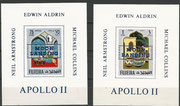 Fujeira, complete set of 12 values overprinted in blue on epreuve de luxe sheetlets, impeforate, 600 items issued each,stories from 1001 nights with overprint Apollo 11, not listed