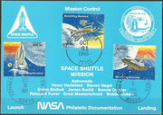NASA philatelic card STS-61A