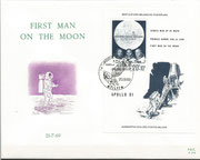 Belgium Apollo 11, souvenir sheet M 1566 on FDC