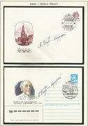 Russia, 2 covers orig.signed by Space Shuttle test pilot Alexei Borodai