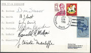 Space Shuttle STS 51-L  launch cover  KSC (Flight 25, Challenger ) orig. signed by complete crew except Jarvis, the complete crew died during launch disaster