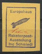 Austria vigentte org.signed by Schmiedl Raketenpostausttelung Neumarkt 12.01.1963