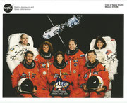 NASA Lithographie from Space Shuttle STS-96 complete crew signed autopen