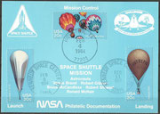 STS-41B  NASA Philatelic documentation card