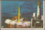 Reaction motors was formed about 2.08.1942 and bought out in the late 1950`s by Thiokol Corp. They manufactered the rocket motors for the X-15 and the Navy Viking Project. Colored Trading card from Navy Photo of Viking launch off ship Norton Sound