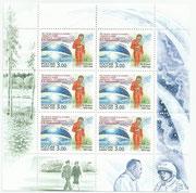 Russia Valentina Tereschkowa, Wostok 6 minisheet 1088