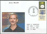 Sojus TMA-07M launch missioncover with photo of Hadfield