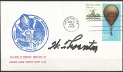 Launch cover STS-8 orig. signed by Thornton