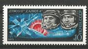 CCCP, Sojus 17 stamp 4343