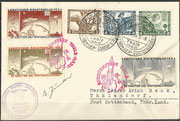 Germany, 28.01.1934 flown cover with triple frankatur Wagner and 3 vignette imperforate, total 300 covers are flown, the flown covers have to have the Dienststempel (cancel) der NSDAP Ortsgruppe Thale/Harz, orig.signed by Gerhard Zucker