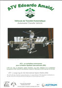 Folder of ATV-3 to ISS frontside with 4 covers, 400 folders are existing, this has number 361