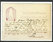 Austria, Faksimilie reprint from the Versuchsrakete V1 from 03.07.1928, from the original covers 19 are flown