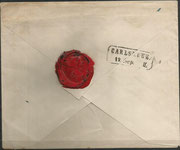 backside of this letter with the red seal of Alexander von Humboldt