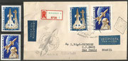 Hungary Yuri Gagarin 1753/54 B and registered cover with the same stamps