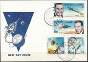 Qatar, FDC,  B imperforate, Gemini 6 and 7 honoring the US astronauts