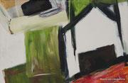 Vogelhuisje, 60x40, Acryl auf Leinwand, 2013