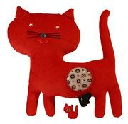 Gato rojo Hippybottomus Suisse pañales de tela juguetes pedagógicos