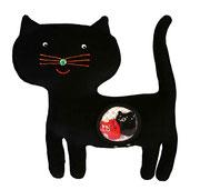 Gato negro Hippybottomus Suisse pañales de tela juguetes pedagógicos