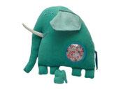 Elefante Hippybottomus Suisse pañales de tela juguetes pedagógicos