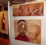 Gemeinschaftsausstellung der Malschule 1x1 in Dieburg
