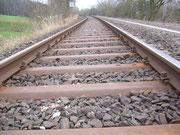 Schienen oberhalb der Triftstraße