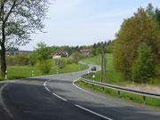 Straße bei Stiege im Harz