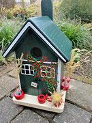 Houten Nestkastje, Nestkastje met Potten, Details, Vogelhuisje bouwen ,  vogelhuisje met potten