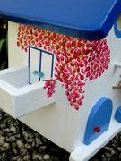 Houten Nestkastje , Grieks Nestkastje met Balkon , Details, Vogelhuisje bouwen ,  Grieks vogelhuisje met balkon , Huisjes details_7