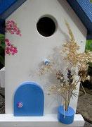 Houten Nestkastje , Grieks Nestkastje met Balkon , Details, Vogelhuisje bouwen ,  Grieks vogelhuisje met balkon , Huisjes details_14