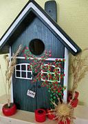 Houten Nestkastje, Nestkastje met Potten, Details, Vogelhuisje bouwen ,  vogelhuisje met potten_3