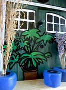Houten Nestkastje, Nestkastje met Potten, Details, Vogelhuisje bouwen ,  vogelhuisje met potten_12