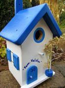 Houten Nestkastje , Grieks Nestkastje met Naam , Details, Vogelhuisje bouwen ,  Grieks vogelhuisje met naam , Huisjes details