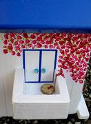Houten Nestkastje , Grieks Nestkastje met Balkon , Details, Vogelhuisje bouwen ,  Grieks vogelhuisje met balkon , Huisjes details_8