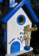 Houten Nestkastje , Grieks Nestkastje met Naam , Details, Vogelhuisje bouwen ,  Grieks vogelhuisje met naam , Huisjes details_7