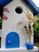 Houten Nestkastje , Grieks Nestkastje met Balkon , Details, Vogelhuisje bouwen ,  Grieks vogelhuisje met balkon , Huisjes details_12