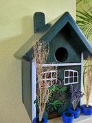 Houten Nestkastje, Nestkastje met Potten, Details, Vogelhuisje bouwen ,  vogelhuisje met potten_11
