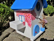 Houten Nestkastje , Grieks Nestkastje met Balkon , Details, Vogelhuisje bouwen ,  Grieks vogelhuisje met balkon , Huisjes details_5