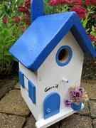 Houten Nestkastje , Grieks Nestkastje met Naam , Details, Vogelhuisje bouwen ,  Grieks vogelhuisje met naam , Huisjes details_1