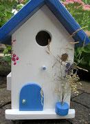 Houten Nestkastje , Grieks Nestkastje met Balkon , Details, Vogelhuisje bouwen ,  Grieks vogelhuisje met balkon , Huisjes details_15