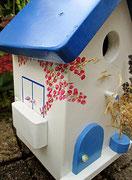 Houten Nestkastje , Grieks Nestkastje met Balkon , Details, Vogelhuisje bouwen ,  Grieks vogelhuisje met balkon , Huisjes details