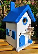 Houten Nestkastje , Grieks Nestkastje met Naam , Details, Vogelhuisje bouwen ,  Grieks vogelhuisje met naam , Huisjes details_5